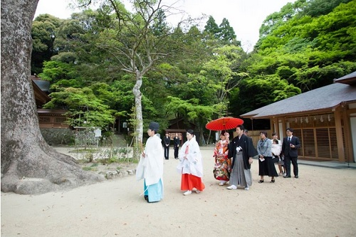神前式,竃門神社
