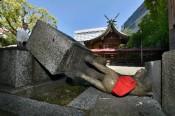 福岡警固神社,おいなりさん壊される