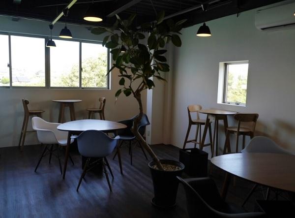 ブランジュリ ノアンのカフェスペース