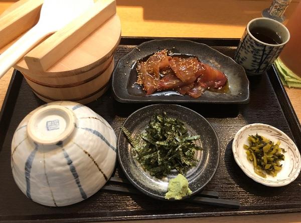 和食 笠,天神ランチ,和定食,鯛茶漬け