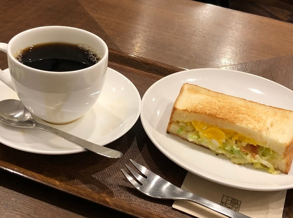 上島珈琲店 天神地下街店,,天神 朝食,天神 モーニング