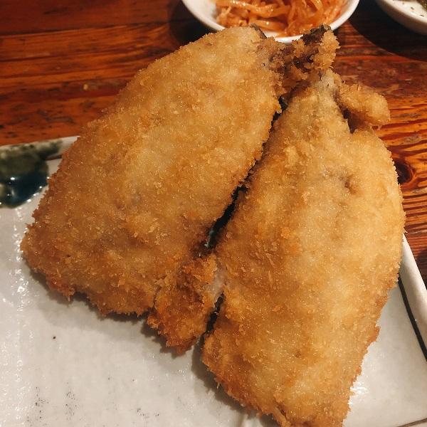 麺や おの食堂 ランチ,麺や おの 福岡,天神 ランチ 安い,あじフライ定食